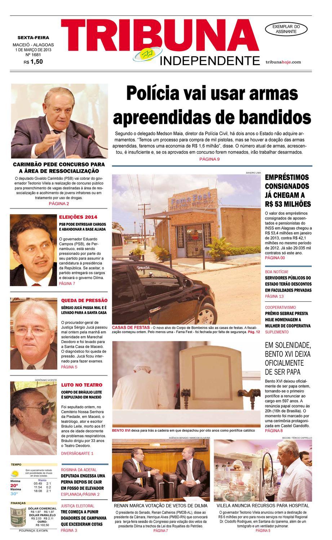 2afee934b Edição número 1681 1 de março de 2013 by Tribuna Hoje - issuu