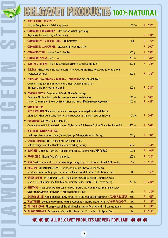 Diamond Pigeon Stud Catalogue 2013 by Koos Gagiano - issuu