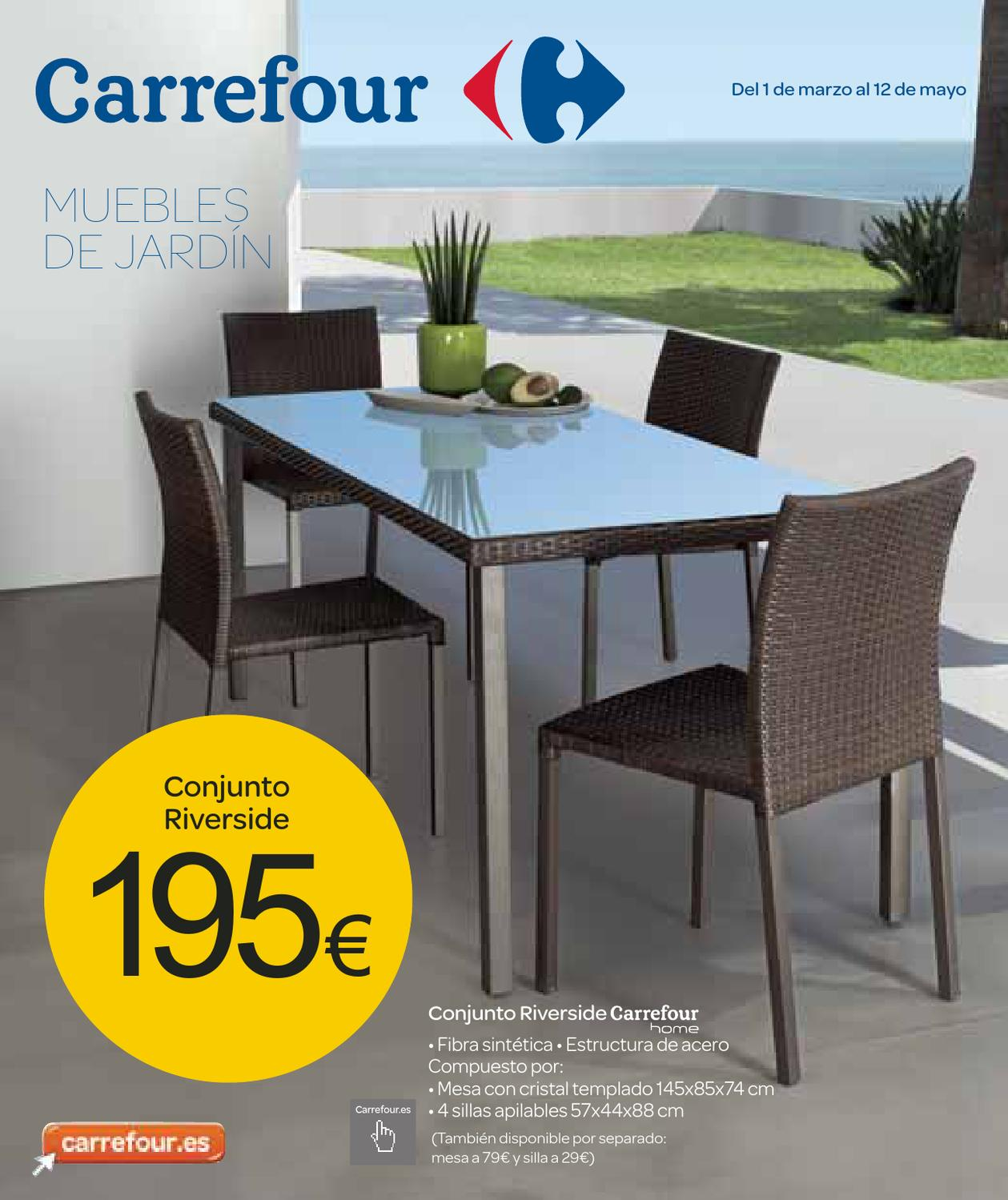 Catalogo de muebles de jardin carrefour by milyuncatalogos for Carrefour mesas y sillas