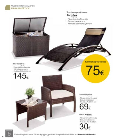 Catalogo de muebles de jardin carrefour by milyuncatalogos for Catalogo muebles de jardin