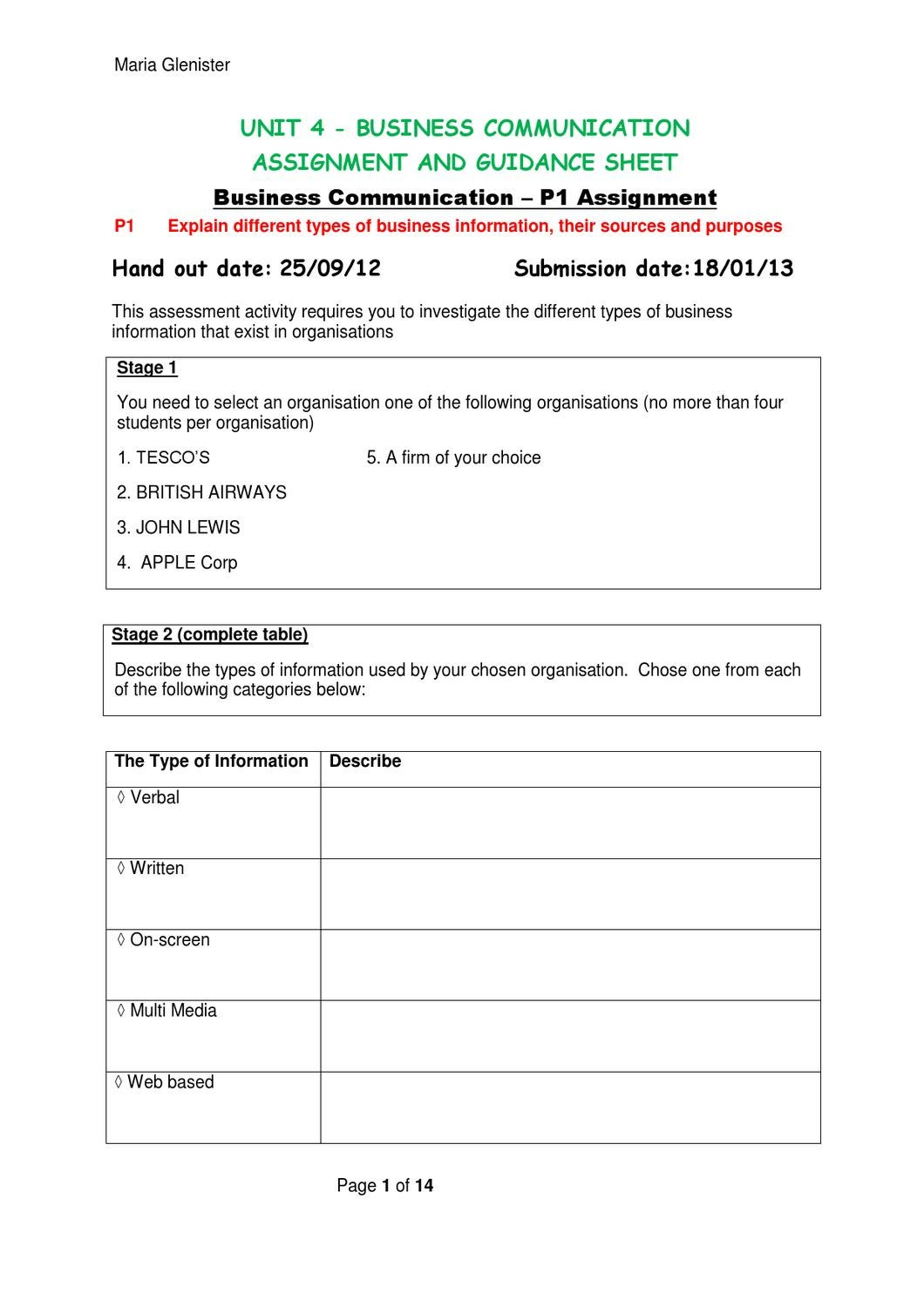 business studies unit 4 coursework Business studies: home page edexcel a local newspaper was very impressed by your business guides for the local business \bve\key stage 5\btec\unit 01.