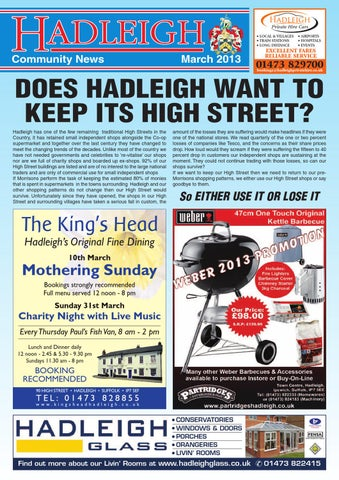 78be3982b579 Hadleigh Community News, March 2013 by Keith Avis Printers - issuu