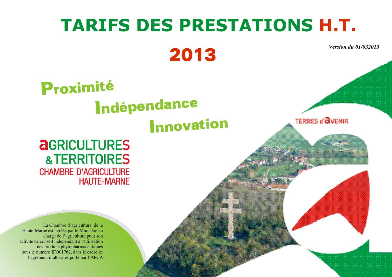 Prestations de la chambre d 39 agriculture 52 by chambre - Chambre d agriculture de la manche ...