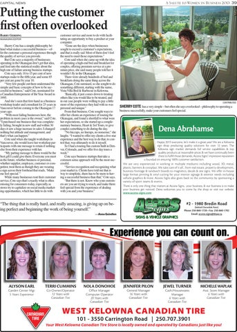 Special Features - Women in Business 2013