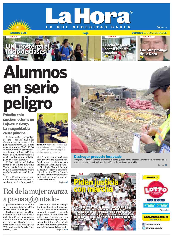 Diario La Hora Loja 03 de Marzo 2013 by Diario La Hora Ecuador - issuu f487cf7911d
