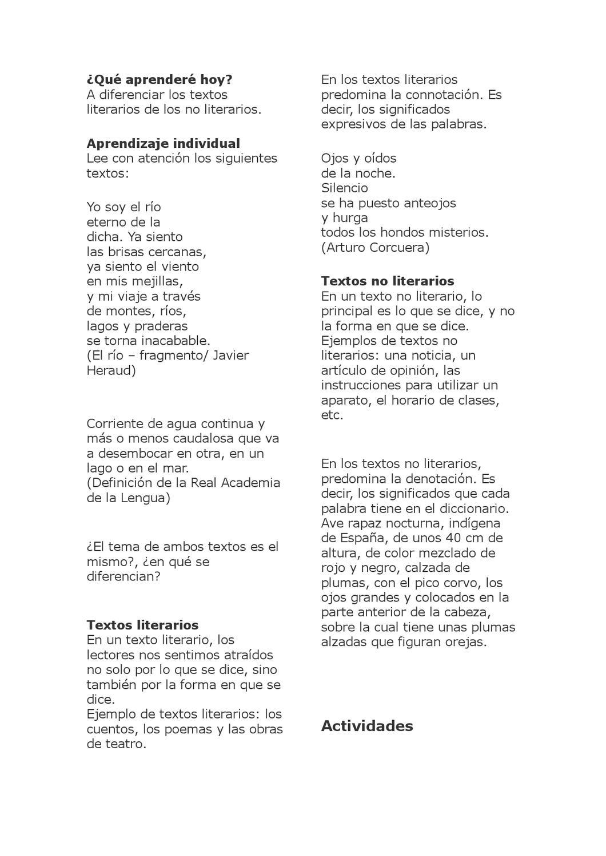 Texto Literario Y No Literario Denotacion Connotación By