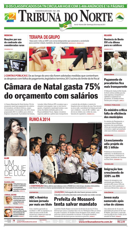 0960a0bc2 Tribuna do Norte - 03/03/2013 by Empresa Jornalística Tribuna do Norte Ltda  - issuu