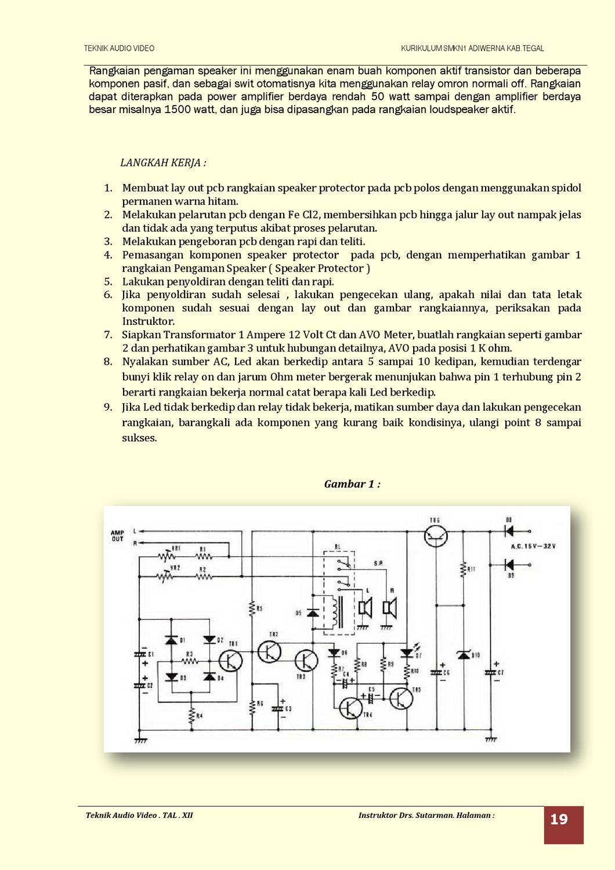Jobsheet Teknik Audio Lanjut By Tav Adb Issuu Rangkaian Amplifier