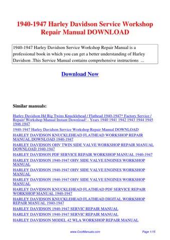 1959 1969 harley davidson electra glide workshop service