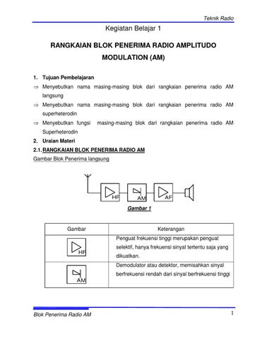 Radio penerima am dan fm by tav adb issuu teknik radio ccuart Gallery