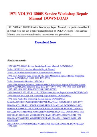Array - 1971 volvo 1800e service workshop repair manual by hong ling      rh   issuu com