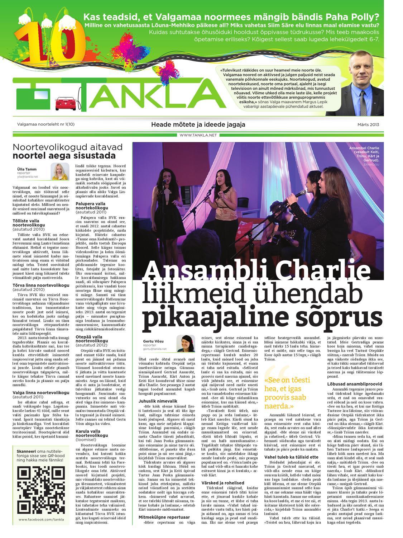5487bf5fea8 Noorteleht Tankla nr 10(03-2013) by Valgamaa noorteleht Tankla - issuu