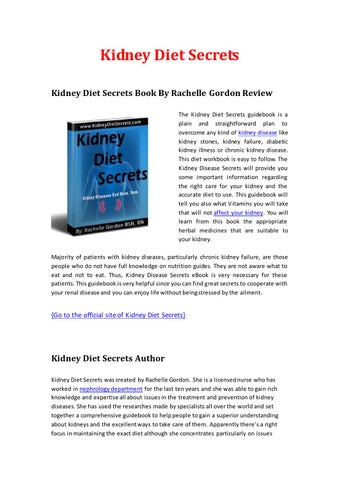 Secrets kidney pdf diet