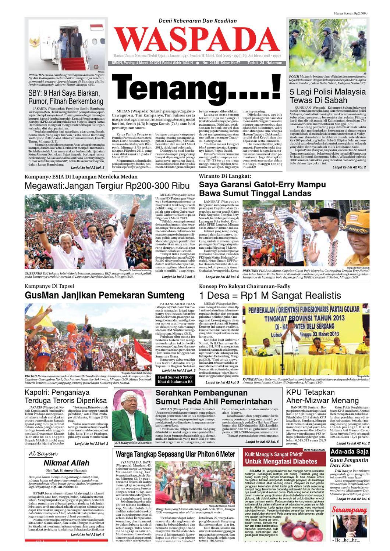 Waspada Senin 3 Maret 2013 By Harian Issuu Poduk Ukm Bumn Mr Kerbaw Keripik Bawang Bayam