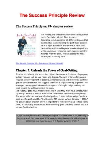 Success Principles Jack Canfield Pdf