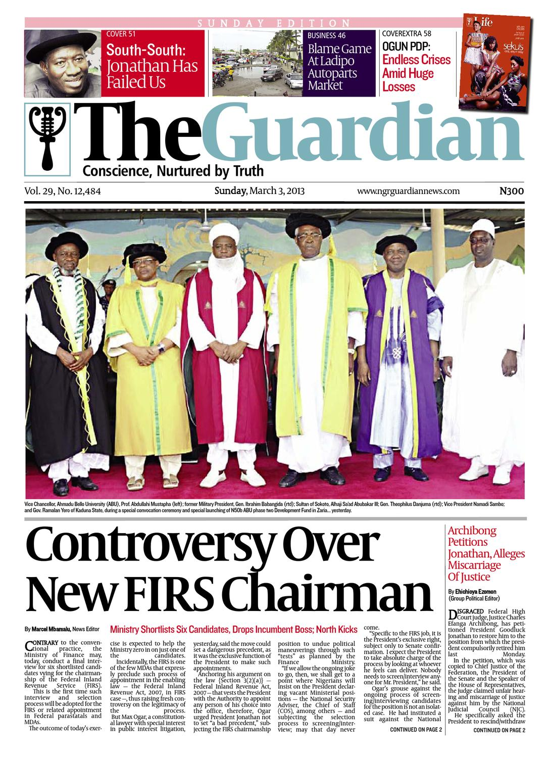 Sunday 03 Mar 2013 The Guardian Nigeria by The Guardian Newspaper - issuu