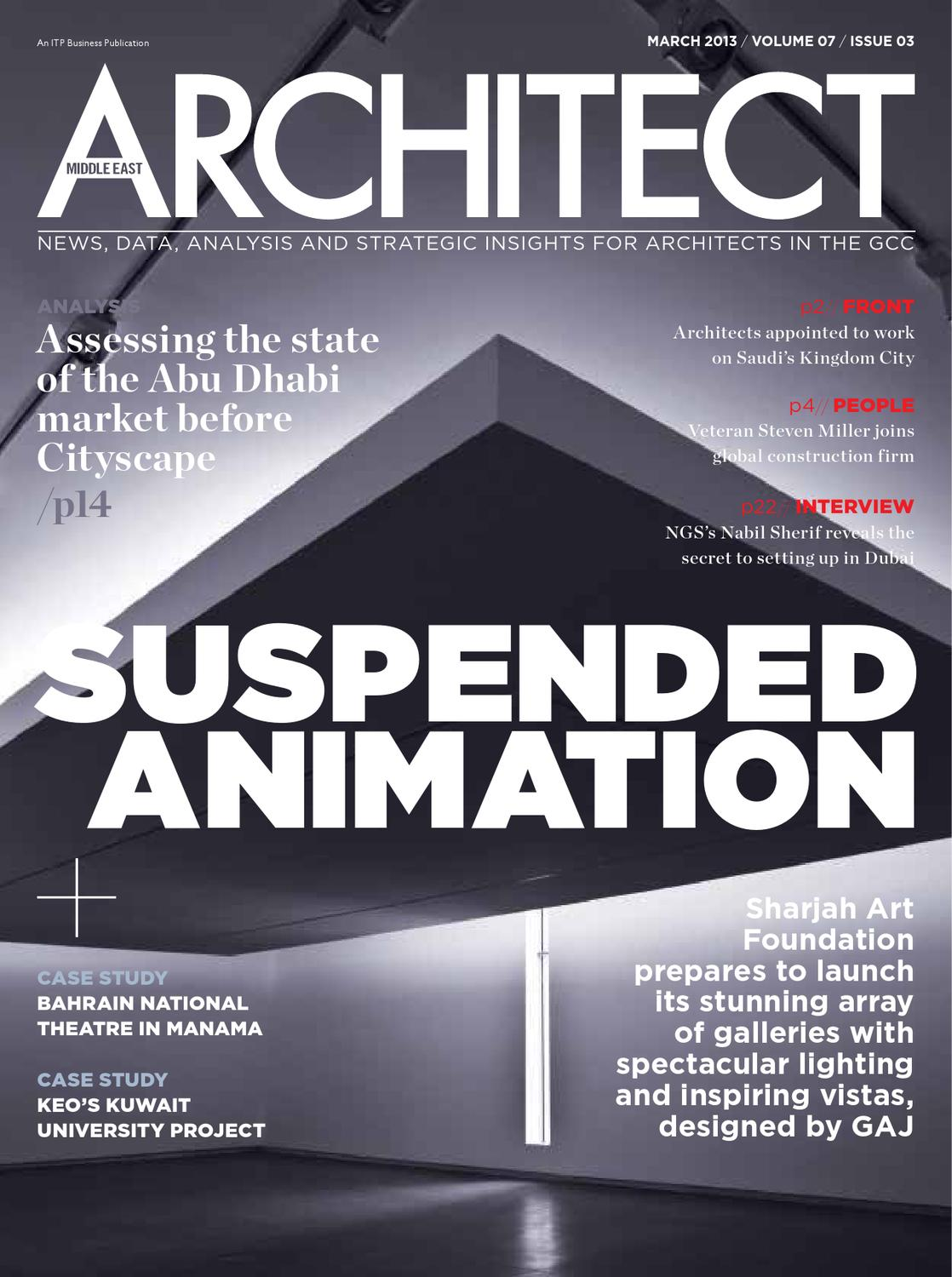 middle east architect march 2013 by centroid planners