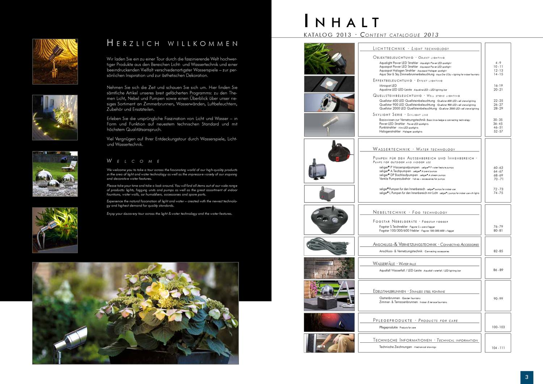 Der Aktuelle 2013 Seliger Licht Wassertechnik Katalog By Leander H05rrf Outdoor Electrical Cable Per Meter Water Gardening Direct Kopp Issuu