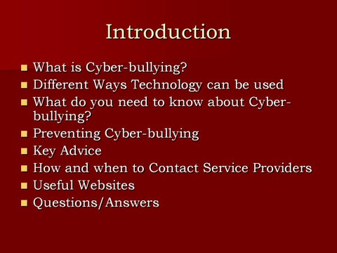Cyber Bullying PPT by Pat O'Mahoney - issuu