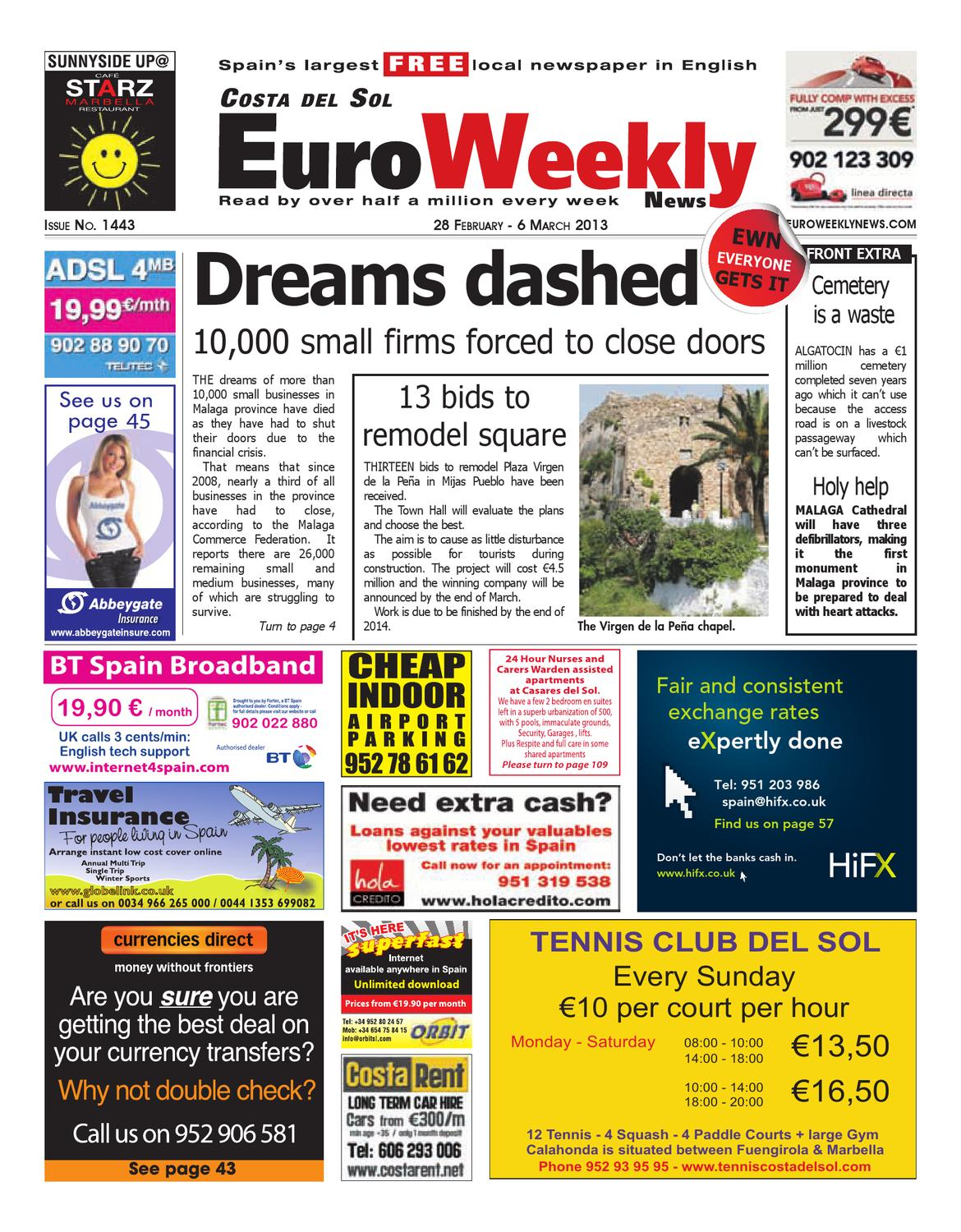 Costa Del Sol 28 February 6 March 2013 Issue 1443 By Euro Weekly  # Muebles Vikings Cl