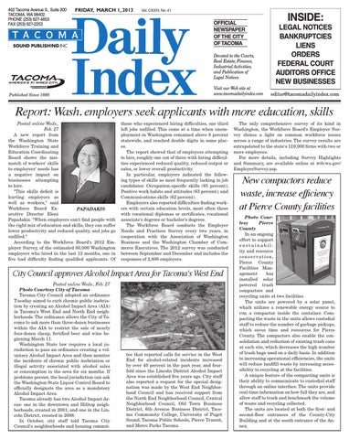 Tacoma Daily Index, March 01, 2013 by Sound Publishing - issuu
