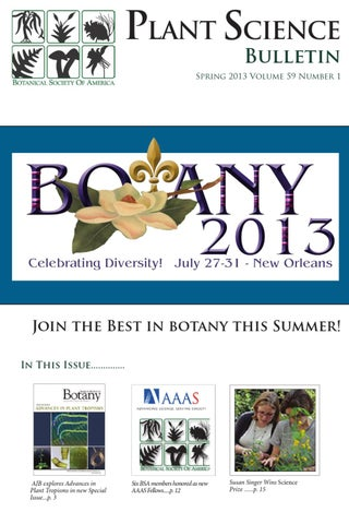 Botany 2016 scientific program by johanne stogran issuu plant science bulletin volume 59 1 2013 fandeluxe Image collections