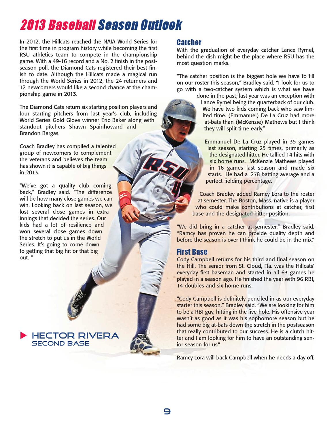 2013 Rogers State University Baseball Media Guide by RSU