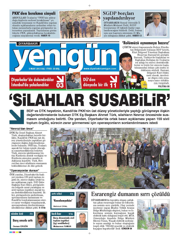 Diyarbakir Yenigun Gazetesi 5 Mart 2013 By Osman Ergun Issuu