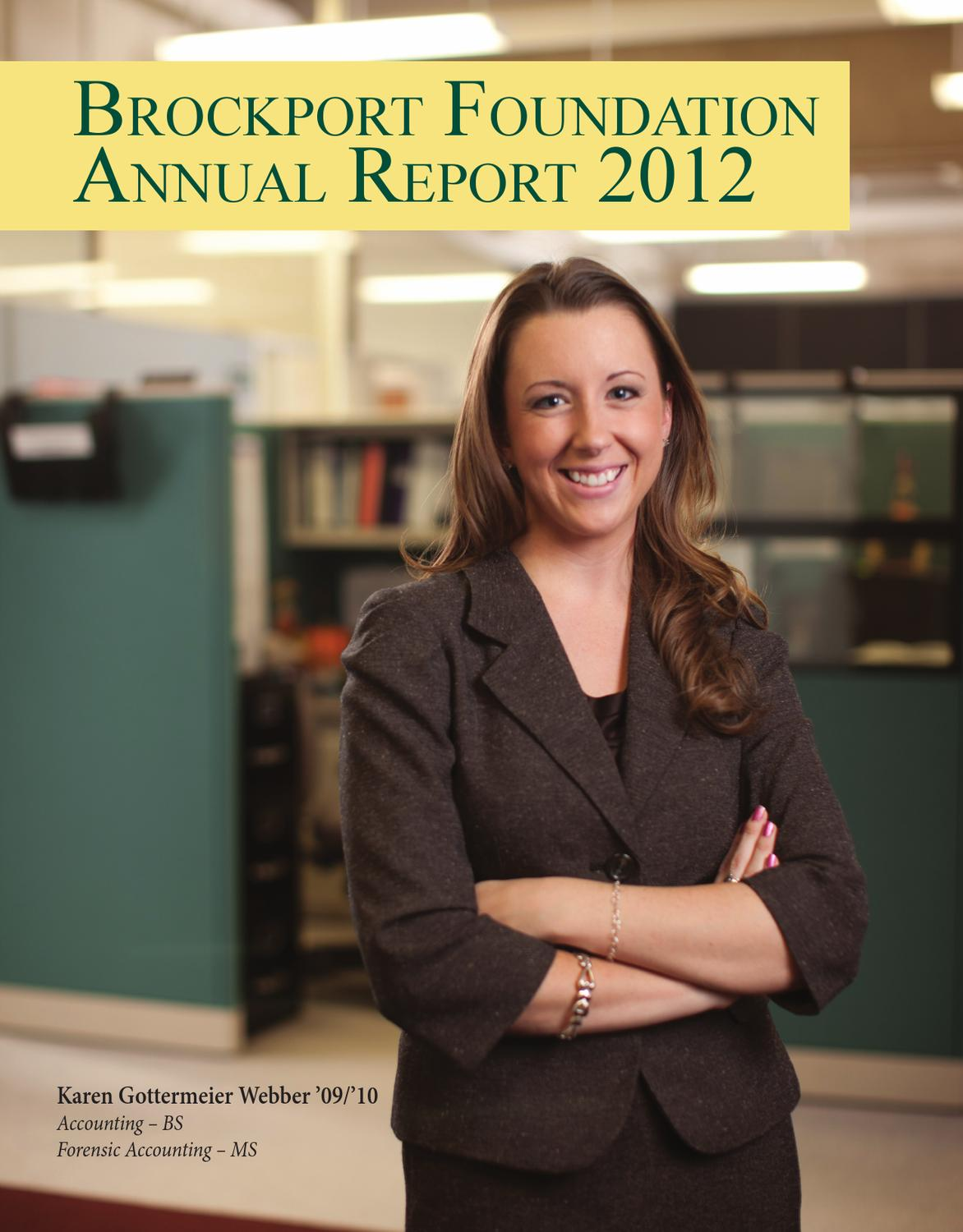 brockport foundation 2012 annual report by the college at brockport