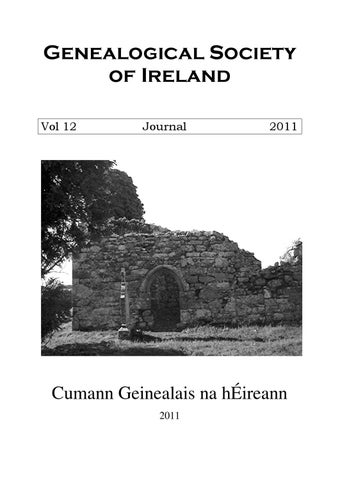 Journal Of The Genealogical Society Of Ireland Vol 12 2011 By