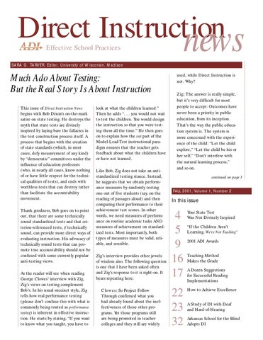 Fall 2001 di news by association for direct instruction issuu page 1 fandeluxe Images