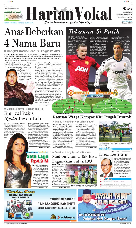 Harian Vokal Edisi 5 Maret 2013 By Riau Publisher Issuu Produk Ukm Bumn Bunge Tanjung Betabur