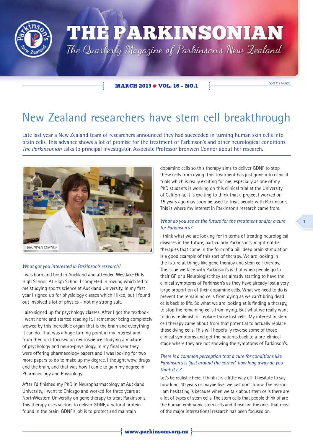 The Parkinsonian March 2013 By Parkinson S New Zealand Issuu