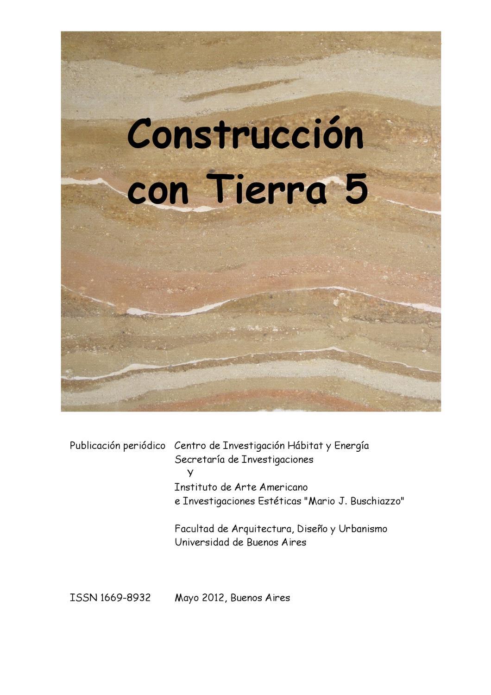 Construccion con Tierra #5 by Julian Grobe - issuu