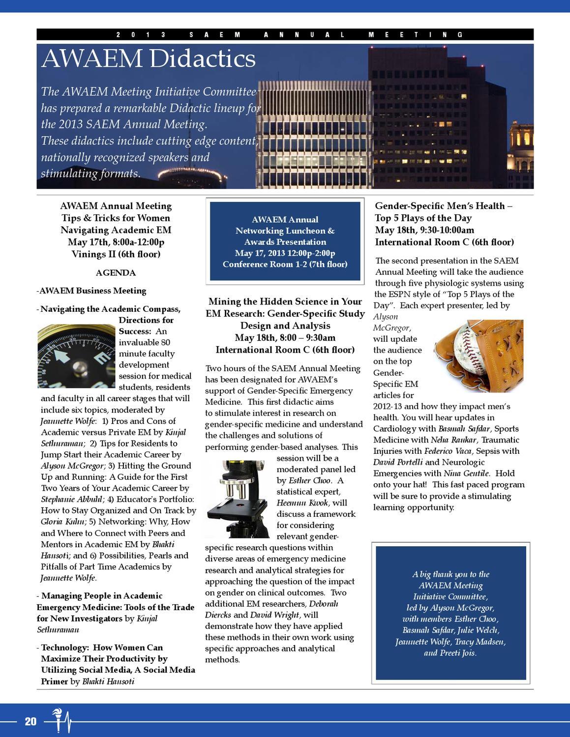 SAEM Mar-Apr 2013 Newsletter by Society for Academic
