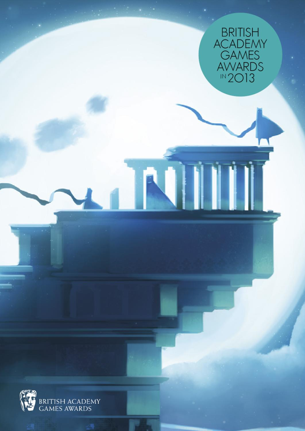 British Academy Games Awards in 2013 - Journey variant cover