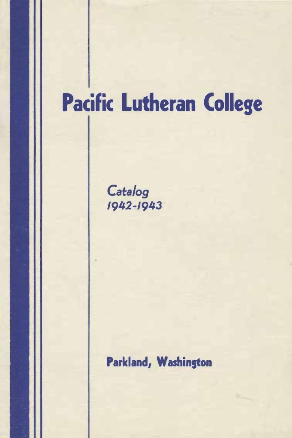 1943 44 Catalog Of Pacific Lutheran College By Electronic Printed Circuit Board Stock Photo C Fiftycents University Archives Issuu