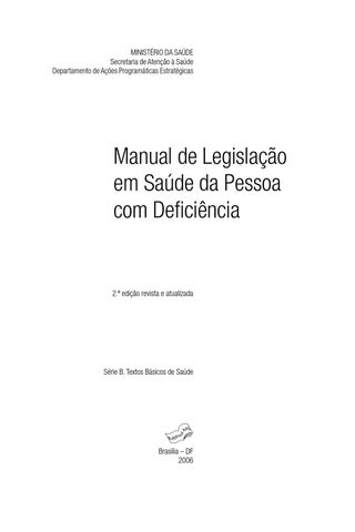MANUAL LEGISLAÇÃO EM SAÚDE by Aurea Editora Ltda - issuu ce9ecc50545