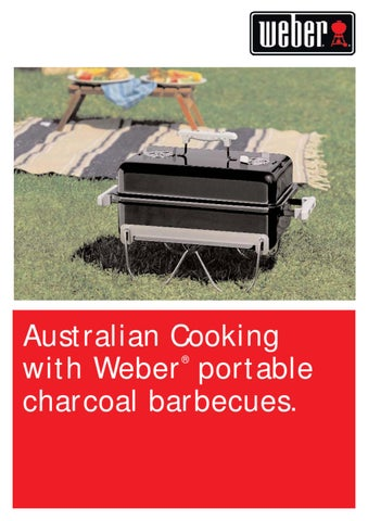 Australian Cooking With Weber Portable Charcoal Barbecues. 速