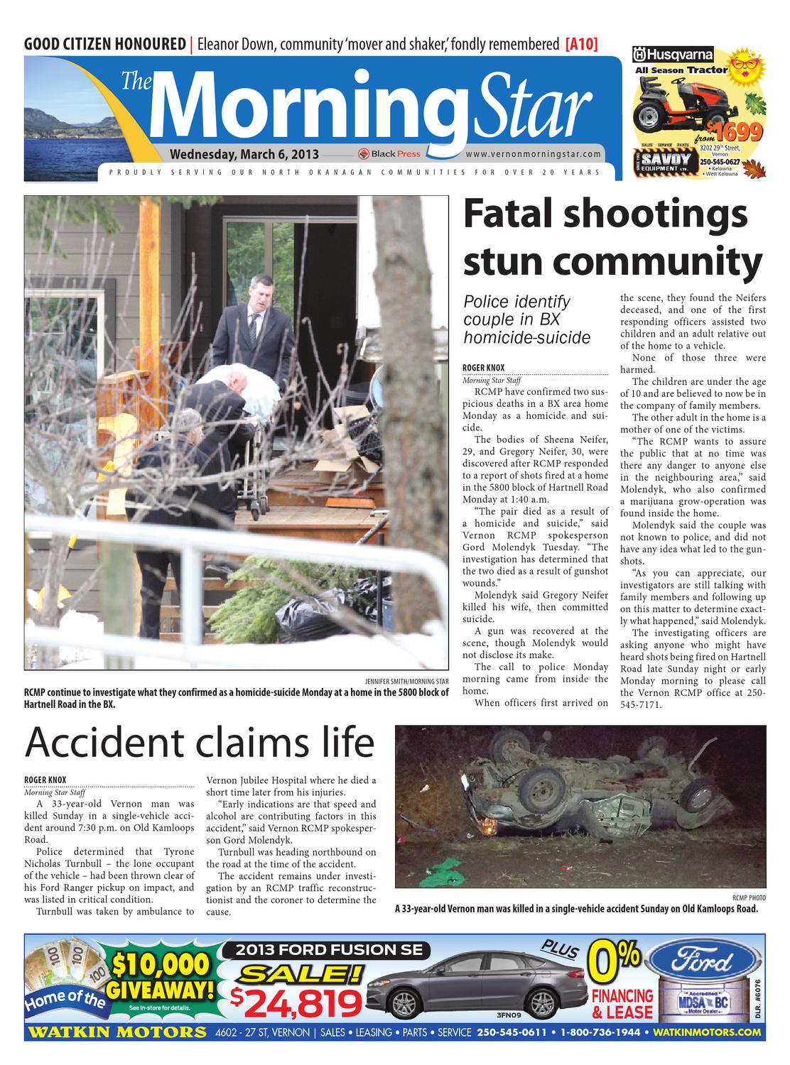 Vernon Morning Star, March 06, 2013 by Black Press Media Group - issuu