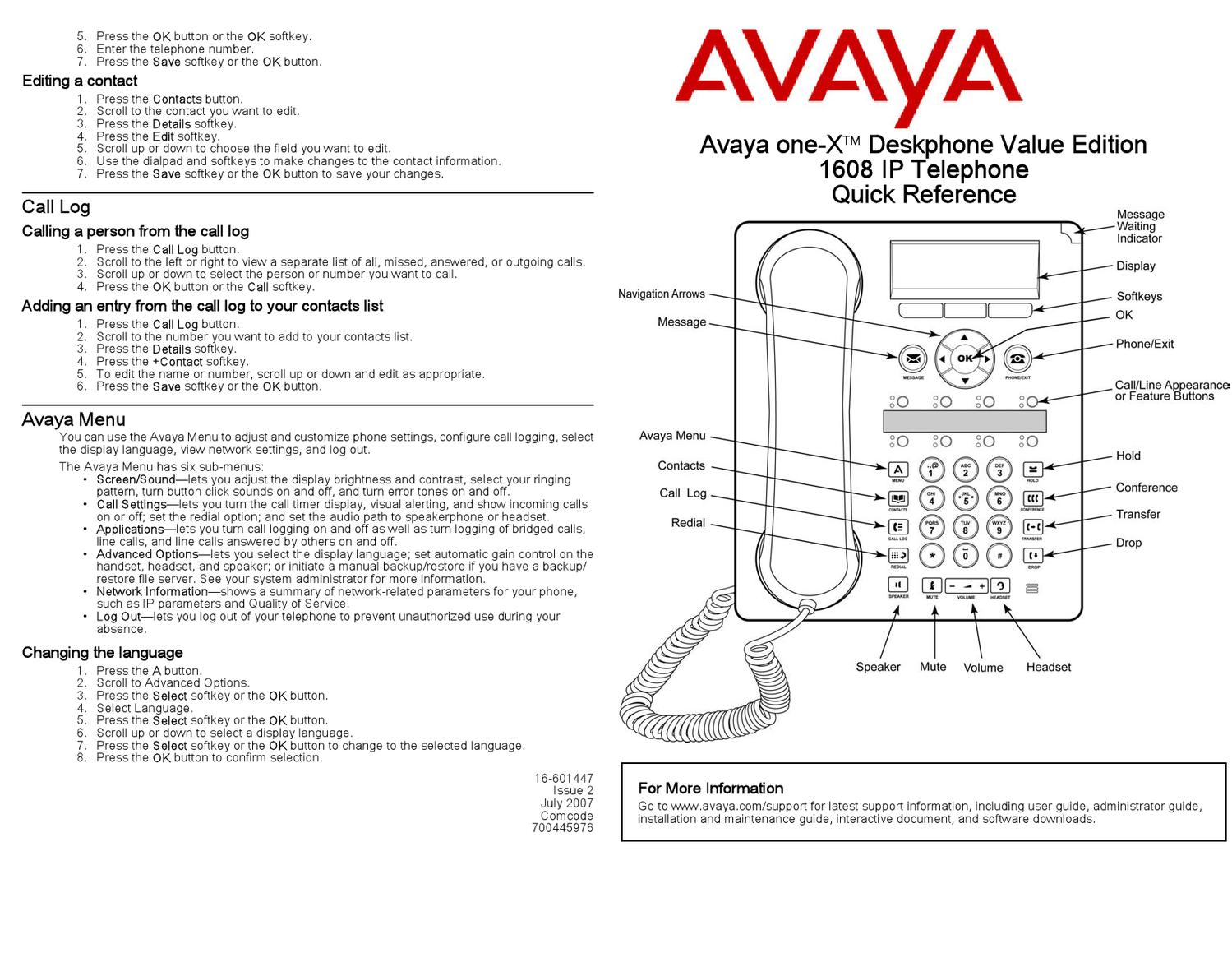 avaya 1608 ip phone manual by katie jackson issuu rh issuu com avaya phone manual 9611g avaya phone manual 9508