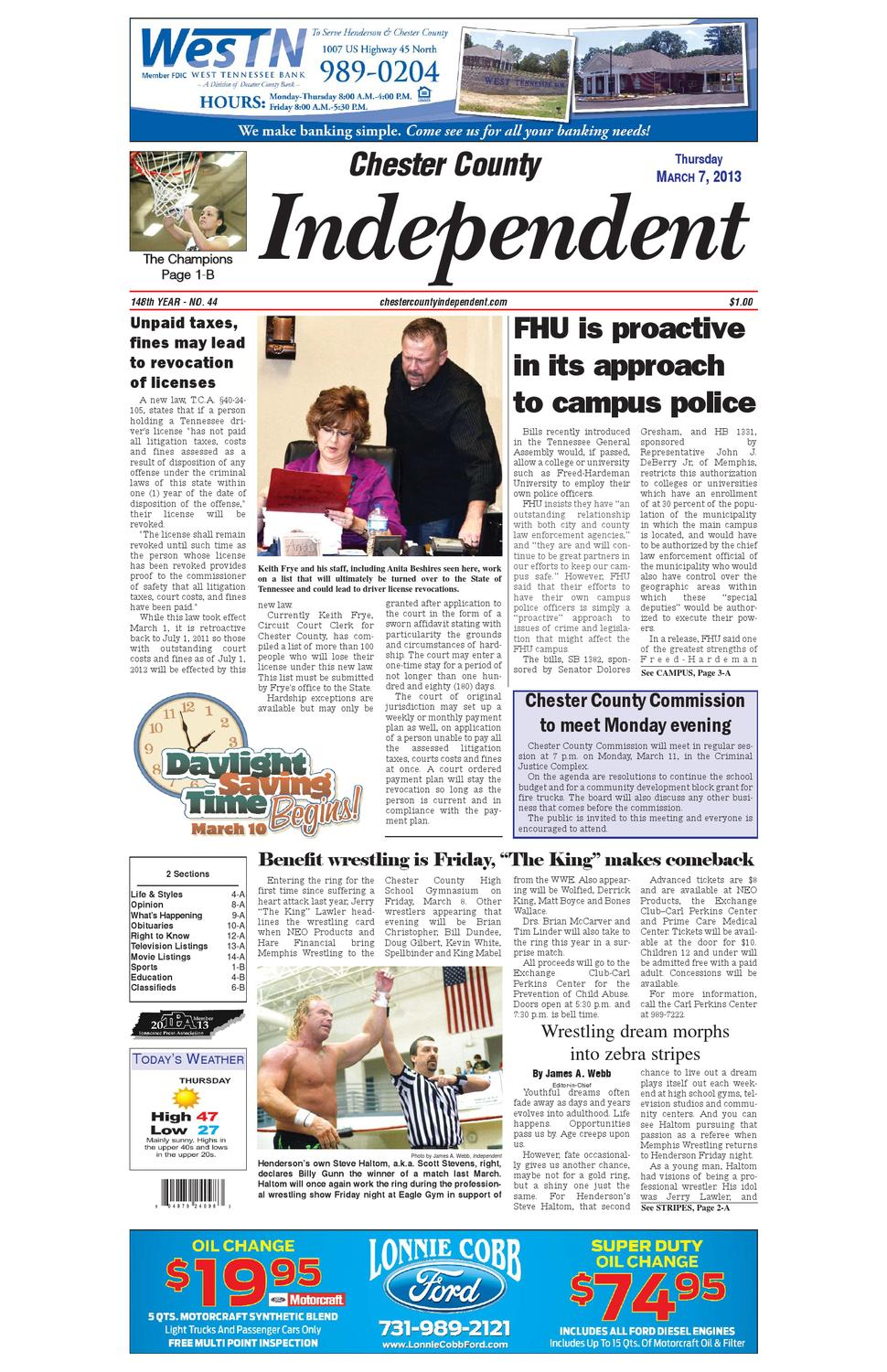 Tennessee chester county enville - Chester County Independent 03 07 13 By Chester County Independent Issuu