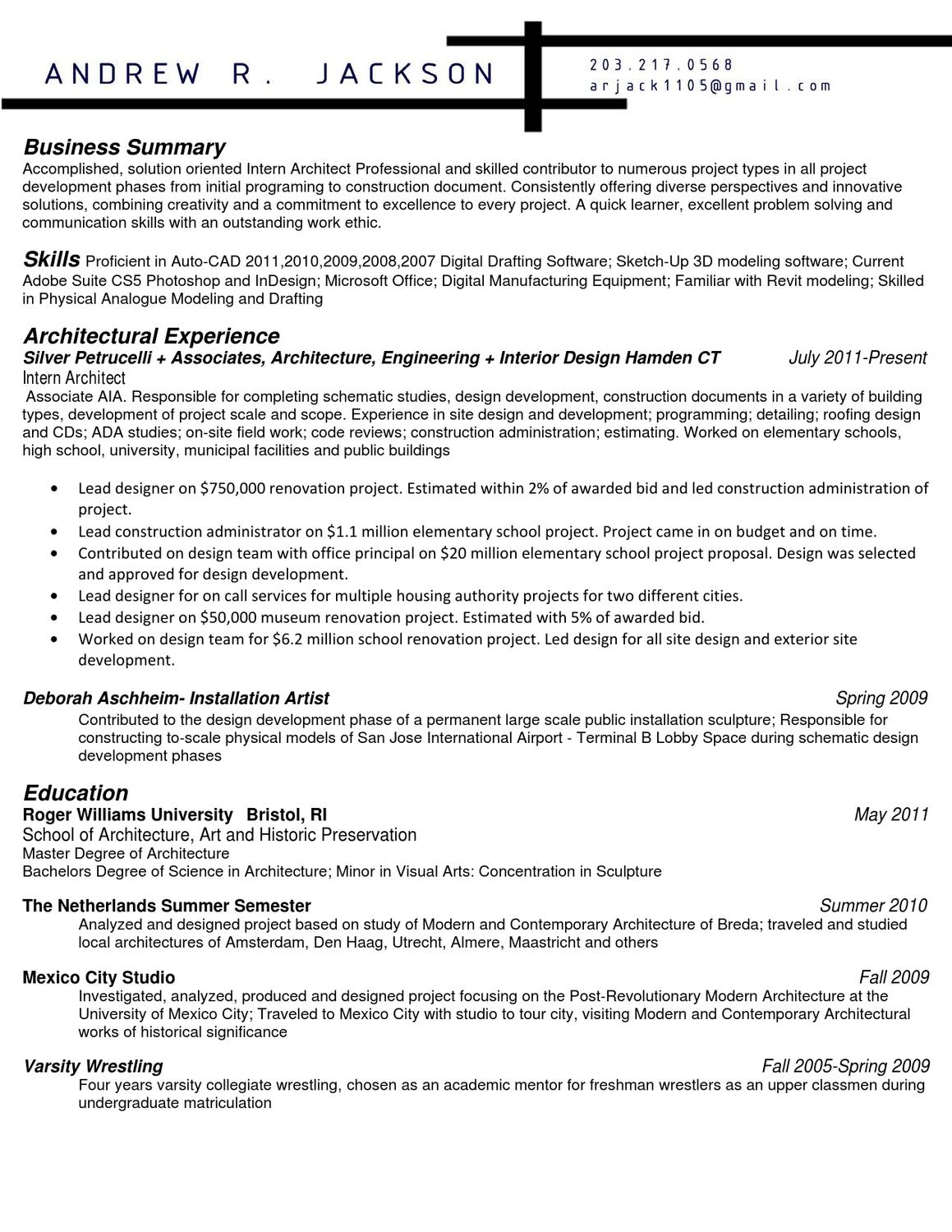 Diverse perspective resume