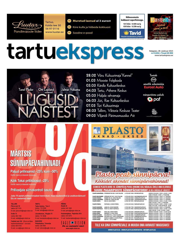 407e582c6aa Tartu Ekspress, 28.02.2013 by Tartu Ekspress - issuu