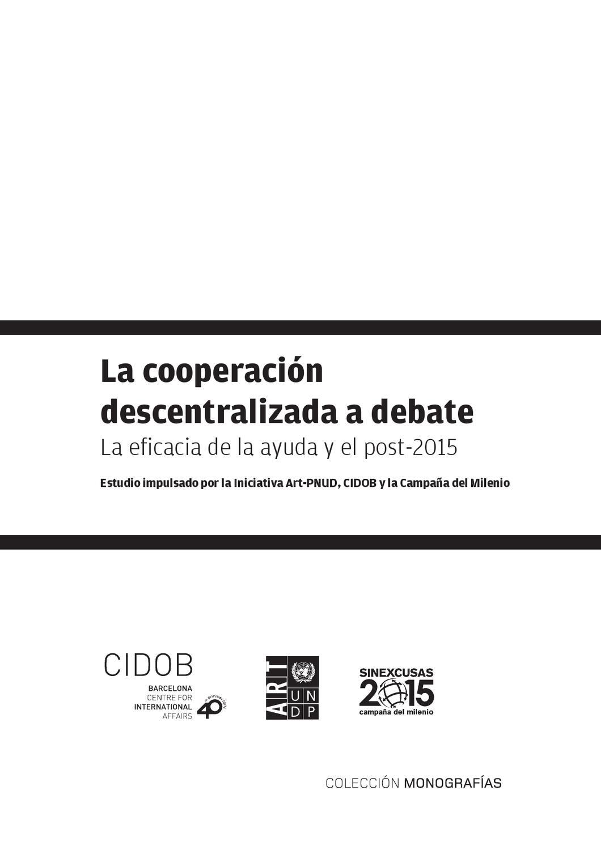 La cooperación descentralizada a debate: La eficacia de la ayuda y ...