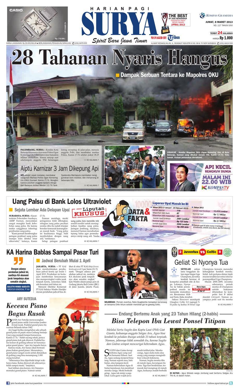 E Paper Surya Edisi 8 Maret 2013 By Harian Issuu Celana Bahan Remaja Dik Ary Collection Bdg