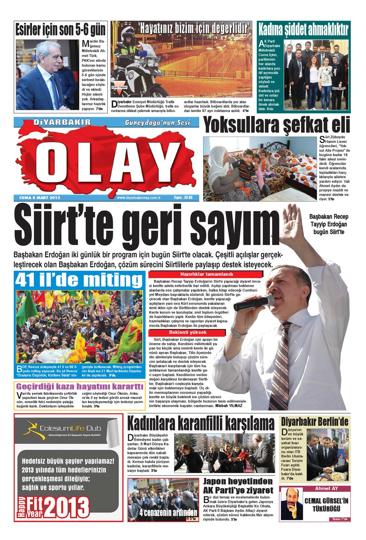 08 03 2013 Gazete Sayfalari By Diyarbakir Olaygazetesi Issuu