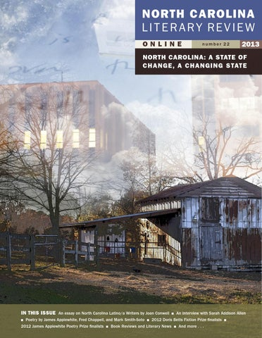 efbe78fa4b North Carolina Literary Review 2013 by East Carolina University - issuu