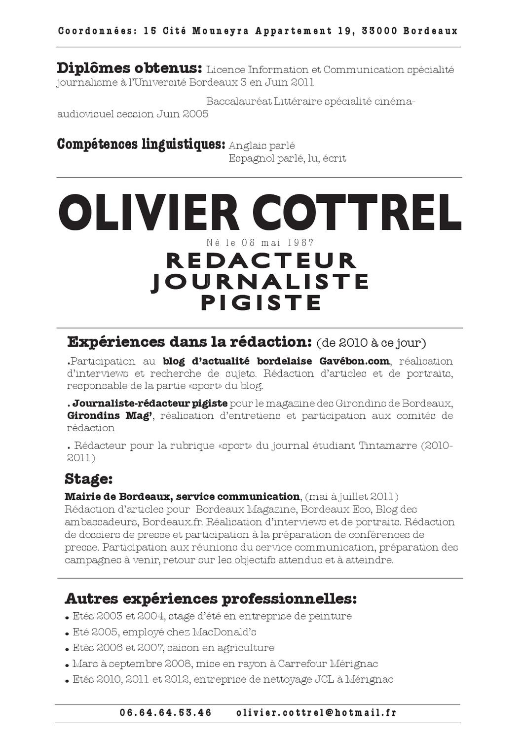 cv olivier cottrel by club de la presse de bordeaux