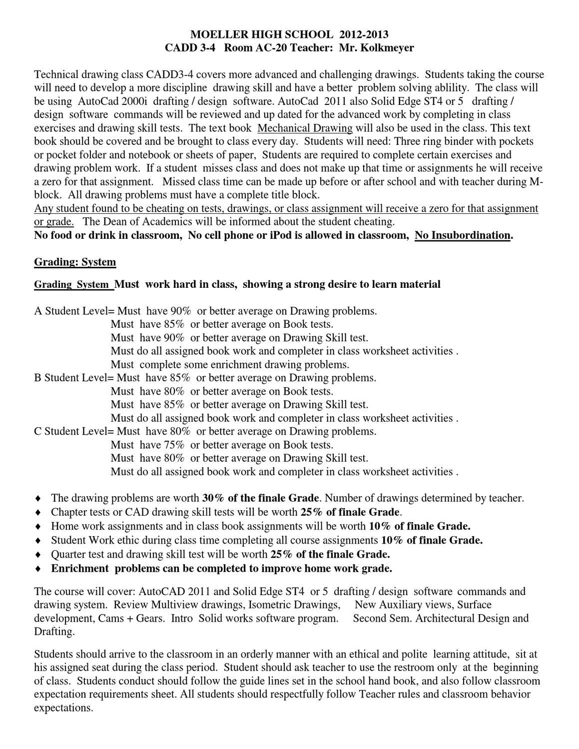 CADD 3-4 CP1 by Archbishop Moeller High School - issuu